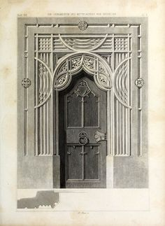 Design for a Gothic doorway