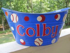 Personalized Easter Bucket. $10.00, via Etsy.