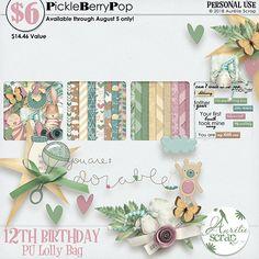 Lolly Bag - PU {by Aurelie Scrap} 12th Birthday, Birthday Celebration, Happy Birthday, Lolly Bags, Digital Scrapbooking, Place Card Holders, Happy Brithday, Urari La Multi Ani, Happy Birthday Funny