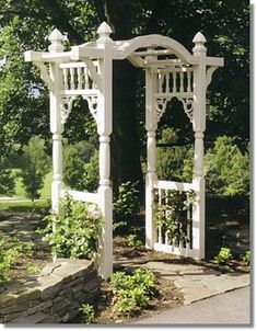 The pergola you choose will probably set the tone for your outdoor living space, so you will want to choose a pergola that matches your personal style as closely as possible. The style and design of your PerGola are based on personal Small Garden Arbour, Diy Arbour, Garden Arbor, Garden Gates, Arbor Gate, Garden Archway, Gazebos, Arbors, Persian Garden