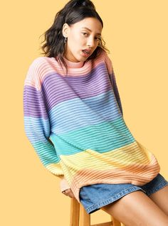Frost Sweater - aka awesome pastel rainbow sweater!!