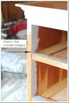 How to Paint Furniture: Old Wooden Chest of Drawers   In My Own Style
