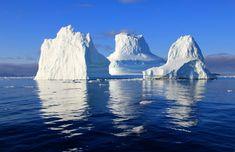 #blue sky #horizon #ice #icebergs #ocean #reflection #sea #water #winter