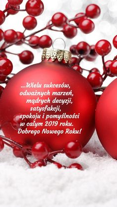 Kartka noworoczna 🍾🥂🍬🍧🎀🌟🎁❤💟🎀🌟🍾🍷🥂 Christmas Bulbs, Christmas Cards, Exploding Boxes, Winter Time, Happy New Year, Holiday Decor, Coaching, Posters, Ideas