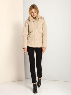Beige Eclectic Folk Jacket - Fashionhub - Ladies Winter Jackets Online. Perfect Wardrobe, Winter Jackets Women, International Fashion, Little Dresses, Beautiful Lingerie, Jackets Online, Casual Tops, Folk, Beige