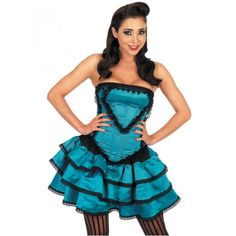 "Girls Can Can 2 Piece Fancy Dress in attractive & good looking ""Blue"" colour."