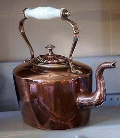 Antique-Victorian-large-copper-kettle-with-milk-glass-handle-vintage-kitchenalia