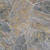 Tarkett Inspire Colonial Flagstone Sheet Vinyl Flooring - 22173 Charcoal