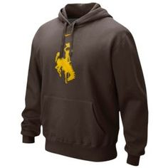 Nike College Big Logo Fleece Hoodie - Men's - Basketball - Fan Gear - Wyoming - Brown