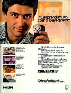 Anuncio barbeador Philishave - com Paulo Figueiredo - 1979