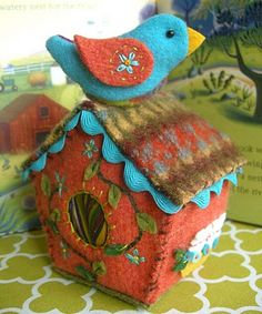 felt birdhouse # Pin++ for Pinterest #