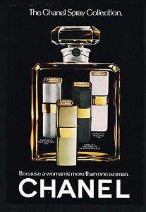 1975 Chanel No 5 19 22 Cologne Spray Vintage Photo Print Ad