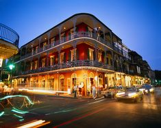French Quarter, New Orleans, Louisiana, USA --- French Quarter at Dusk --- Image by © Royalty-Free/Corbis