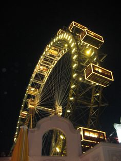 Vienna - so excited to have a giant ferris wheel in Seattle, but I still want to ride on this one!