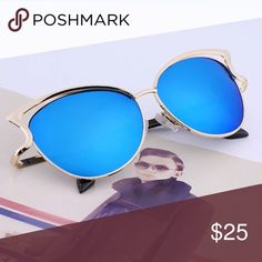 Sexy Cateye Sunglasses Mirrored Blue Super trendy, a headturner. Brand new. High Quality. UV Protection. No trade. Accessories Sunglasses