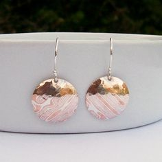 Hey, I found this really awesome Etsy listing at https://www.etsy.com/listing/189827766/mokume-gane-dangle-earrings-mixed-metals