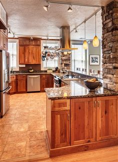 nice stone accent walls Clearcreek Knotty Cherry Natural