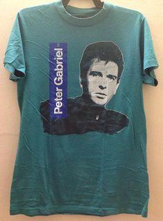 Rare Vintage Peter Gabriel 1986 So Tour T-Shirt by VINTAGESHIRT