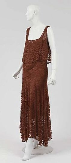 Chanel Dress - 1928-29 - Attributed to House of Chanel (French, founded 1913) - Silk - The Metropolitan Museum of Art.