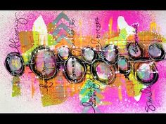 Dylusions Paint & Dylusions Ink Art Journal Tutorial - YouTube