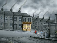 Minimum Transaction Please Ask For Details About Leigh Lambert:- Leigh was born in Newcastle-Upon-Tyne in 1979 and lived in the North East un Leigh Lambert, Building Art, Art Uk, Urban Life, Naive Art, City Art, Great Pictures, Creative Inspiration, Illustration Art