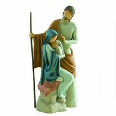 The Christmas Story Figurines By Willow Tree The christmas story is the largest-scale nativity created by sUSAn lordi. the two figures are approx. Willow Tree Figures, Willow Tree Nativity, Christmas Figurines, Christmas Nativity, Holding Baby, Tree Silhouette, Holy Family, Christmas Central, Collectible Figurines