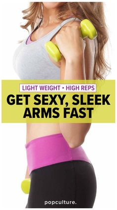 15-minute light weight arm workout for seriously toned and tight arms. Popculture.com