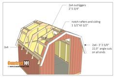 shed plans - small barn - roof outriggers. 8x8 Shed, Homemade Solar Panels, Shed Construction, Build Your Own Shed, Free Shed Plans, Small Barns, Shed Kits, Building A Shed, Building Ideas