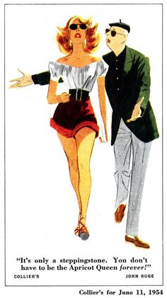 Today's Inspiration: John Ruge, Round Two 1950s Ads, Round Two, Retro Illustration, Ad Art, Vintage Cartoon, Old Master, Illustrators, Pin Up, Old Things