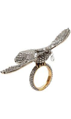 Munnu Diamond & Ruby Bird Ring