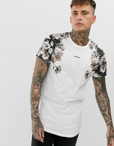 Męska Moda Tatuaż Styl Wzór Druku Sznurek Z Kapturem Bluza Z