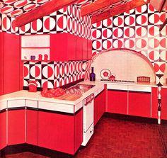 Interior Vintage - Bright Idea - Home, Room, Furniture and Garden Design Ideas Interior Design Pictures, Vintage Interior Design, Vintage Interiors, Modern Interiors, Black Interiors, Kitchen Retro, Vintage Kitchen, Kitchen Layout, Luxury Kitchens
