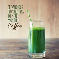 Although coffee is a great source of antioxidants and nutrients, there are many other healthy alternatives that will get you moving throughout the day.  Try these 17 Delicious Alternatives to Your Morning Coffee.  #morning #coffee #alternatives