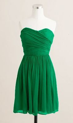 Emerald green, a huge color this year! this would look awesome with tortoise accessories and black pumps