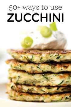 Here's a list of 50  zucchini recipes! We've got homemade breads, healthy breakfast ideas, zucchini noodle recipes, vegan zucchini salads, tons of lunch and dinner inspiration, gluten-free desserts and more! Plus tips for storing, and how to cook and bake with zucchini! Clean Eating Recipes, Raw Food Recipes, Vegetarian Recipes, Healthy Recipes, Freezer Recipes, Healthy Dinners, Eating Healthy, Healthy Foods, Zucchini Noodle Recipes