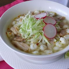 Slow Cooker Chicken Pozole, for our Day of the Dead celebration.