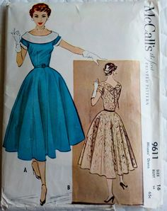 McCall's 9611 Vintage Womens Sewing Pattern by Sutlerssundries, $32.00