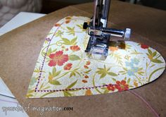 sewing paper to make a homemade greeting card! Easy yet stunning!