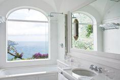 Amazing bathroom at Il San Pietro - Positano, Italy. #hotel #luxurytravel #travel