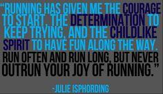 The joy of running -- Julie Isphording
