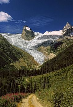 The Bugaboos - a spectacular area of glaciers and soaring granite spires in the interior of British Columbia, Canada.