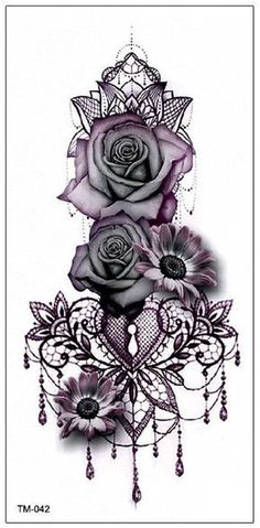 Gothic Rose Mandala Chandelier Back Tattoo ideas for Women - Traditional Vintage.Gothic Rose Mandala Chandelier Back Tattoo ideas for Women - Traditional Vintage Cool Unique Geometric Black Floral Flower Sunflower for Spine - rosas góticas ide Sexy Tattoos, Trendy Tattoos, Body Art Tattoos, Tatoos, Finger Tattoos, Diy Tattoo, Custom Tattoo, Tattoo Ribs, Tattoo Arm