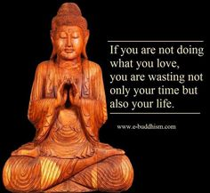 If you are not doing what you love. You are wasting not only your time but also your life.