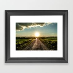 Choose from a variety of frame styles, colors and sizes to compliment your favorite Society6 gallery, or fine art print - made ready to hang. home, nature, natural, landscape, grass, sun, sunset, sunrise, clouds, sky, road, peace, rays, photo, photograph, photography, art print, wall art, wall tapestry, home decor, decoration, decoracao, decorative, positive, faith, beautiful, day