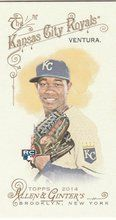 2014 Topps Allen Ginter Baseball Mini #54 Yordano Ventura, Kansas City Royals