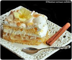 Apple merengue cake - Omenainen Brita-kakku Merengue Cake, Just Eat It, Apple Pie, Waffles, Food And Drink, Baking, Breakfast, Ethnic Recipes, Sweet