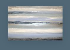 Large Painting Abstract Blue and Gray Original Abstract
