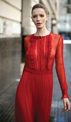 Maria Cher, invierno 2012. Modelo : Milagros Schmoll