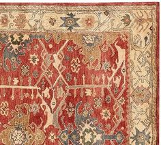 Pottery Barn Channing Persian 8X10 Persian wool area rugs carpet