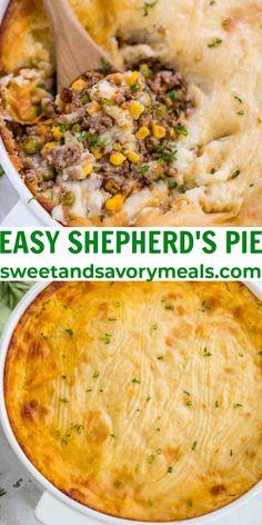 Shepherd's Pie is one of the best comfort foods with Irish roots. #pie #st.patricksday #shepherdspie #sweetandsavorymeals